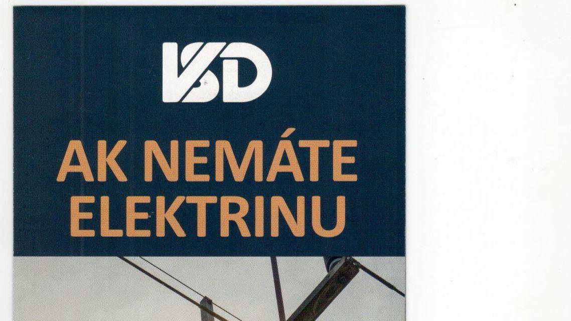 Internetová stránka VSD, a.s. na nahlasovanie výpadku elektriny